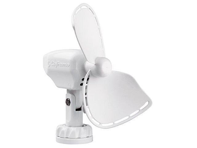 "Caframo Ultimate 747 12V 2-Speed 7/"" Fan w//Lighter Plug White 747DCWCS"