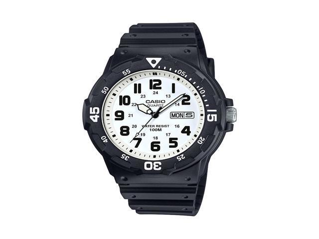 Casio Mens Dive Style Watch, Black/White