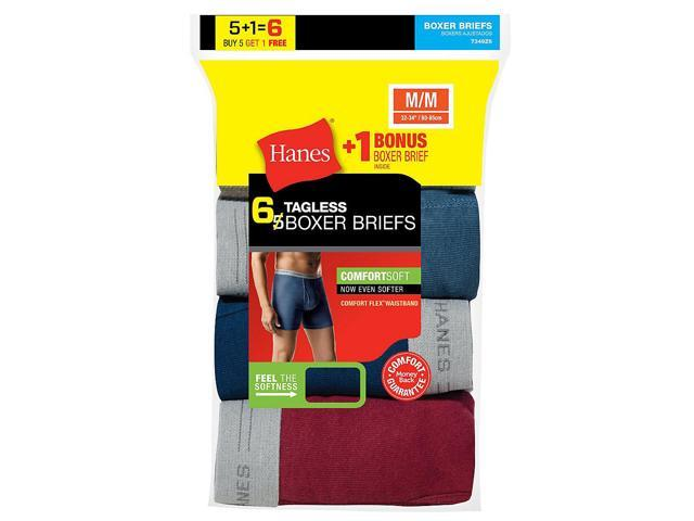 Hanes Men\'s TAGLESS Boxer Brief with Comfort Flex® Waistband 6-Pack ...