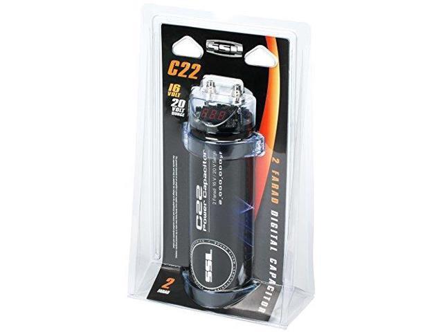 Sound Storm Laboratories C22 2-Farad Capacitor with Digital Display -  Newegg com