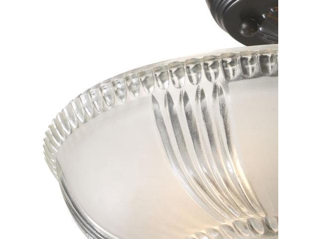 Sea Gull Lighting Windgate 9 In W 3 Light Brushed Nickel: Elk Lighting Restoration 3-Light Semi-Flush In Oiled