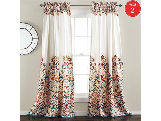 Lush Decor Clara Room Darkening Window Curtain Panel Pair