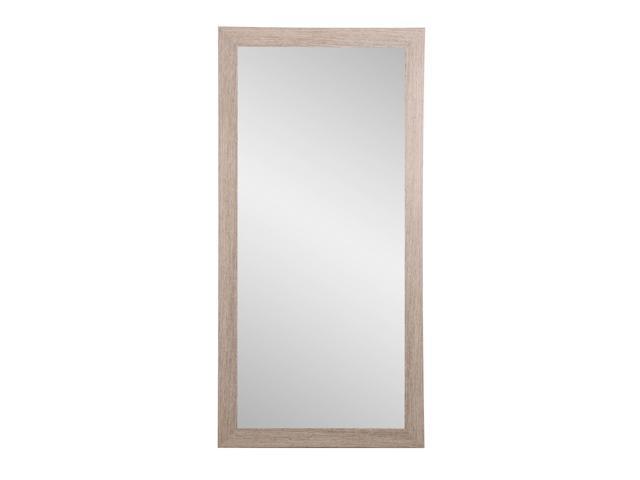 Surprising Brandtworks Shabby Chic Farmhouse Full Length Floor Vanity Wall Mirror 32 X 66 Brown White Newegg Com Download Free Architecture Designs Scobabritishbridgeorg