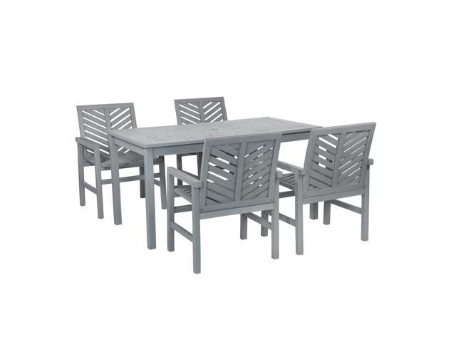 5-Piece Chevron Outdoor Patio Dining Set