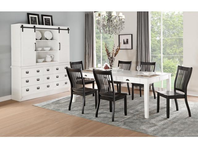 Fabulous Renske Dining Table Antique White Newegg Com Bralicious Painted Fabric Chair Ideas Braliciousco