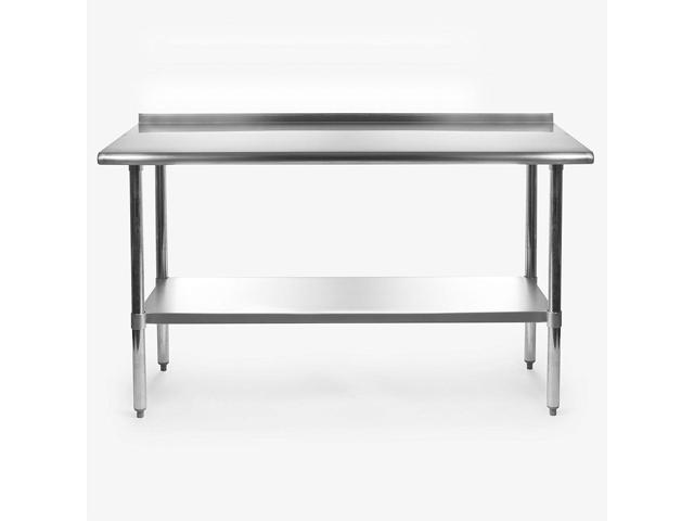 Fine Stainless Steel 60 X 24 Inch Heavy Duty Nsf Certified Work Bench Prep Table With Backsplash Newegg Com Pabps2019 Chair Design Images Pabps2019Com
