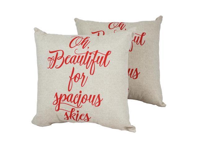 Outdoor Pillows Set Of 2.Blazing Needles 17 Inch Outdoor Spun Polyester Throw Pillows Set Of 2 Fun In The Sun Water Melon