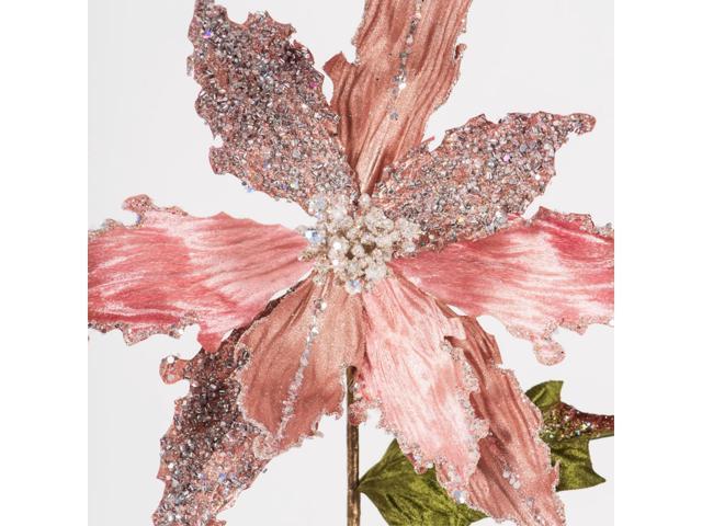 20 Rose Gold Poinsettia 12 Flower 3 Bg Newegg Com