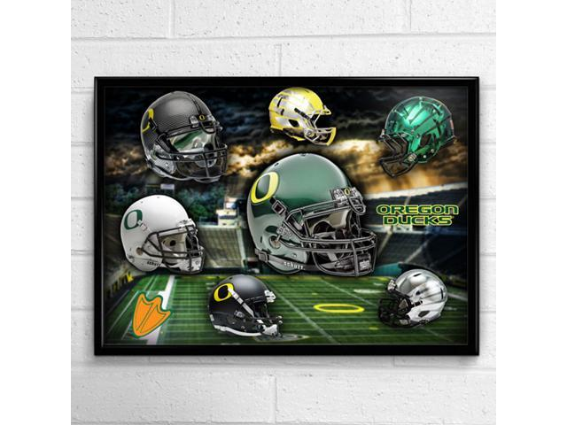 finest selection 986f7 e9dc8 Oregon Ducks Head Gear 24x18 Football Poster Authentic Team Spirit Store  Product - Newegg.com