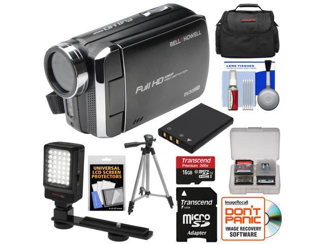 Bell Howell Dv30hd 1080p Hd Video Camera Camcorder Black With
