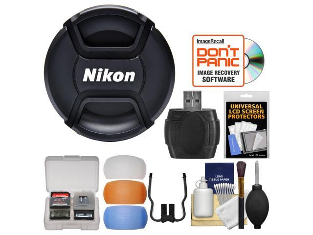 Nikon LC 62 62mm Snap On Lens Cap With Flash Diffusers Card Reader
