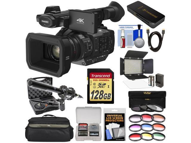 Panasonic HC-X1 4K Ultra HD Video Camera Camcorder with 128GB Card + LED  Video Light + Microphone + Case + 9 Filters + Kit - Newegg com