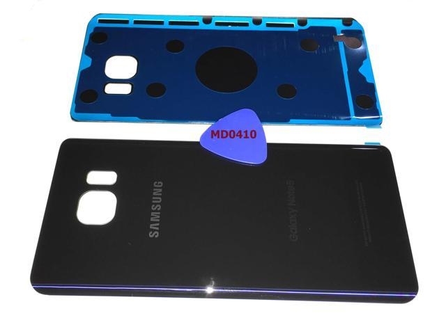 timeless design 464b5 e91ab Samsung Galaxy Note 5 OEM DARK BLUE Rear Back Glass Lens Battery Door  Housing Cover + Adhesive + Opening Tool Replacement For BLACK SAPPHIRE N920  (Fit ...