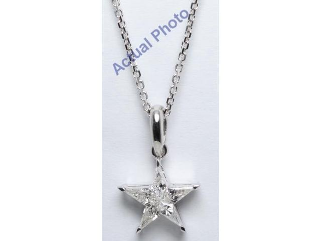 18k white gold kite cut invisible setting diamond star pendant 031 18k white gold kite cut invisible setting diamond star pendant 031 ct h color aloadofball Choice Image