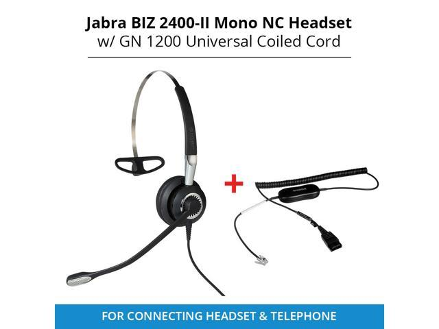 Jabra Biz 2400 II Mono NC 3in1 IP Headset with GN1200 Universal Smart Cord  for Connecting Headset to Telephone - Newegg com