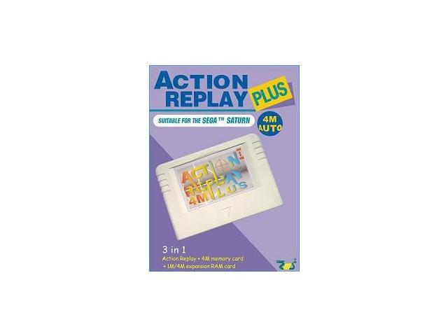 Sega Saturn Action Replay Plus 3 in 1 Memory Card and Cheat Codes Auto 1 or 4M Ram Region Free - Newegg.com