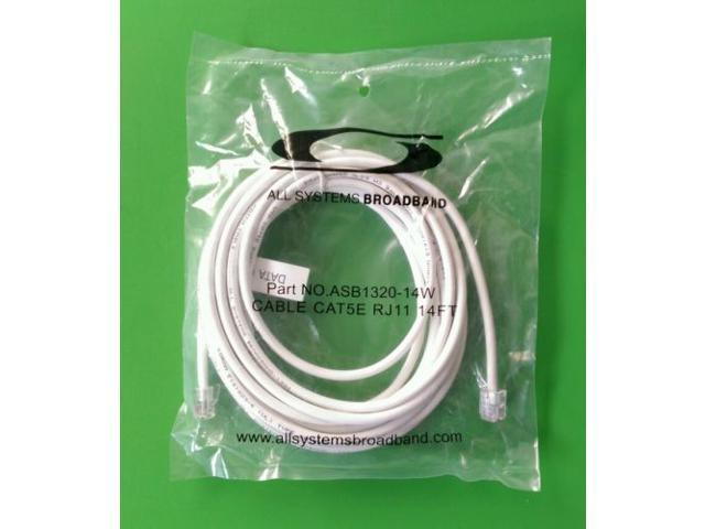 ASB1320-14W All Systems Broadband 14FT Cable CAT5E RJ11 Part No
