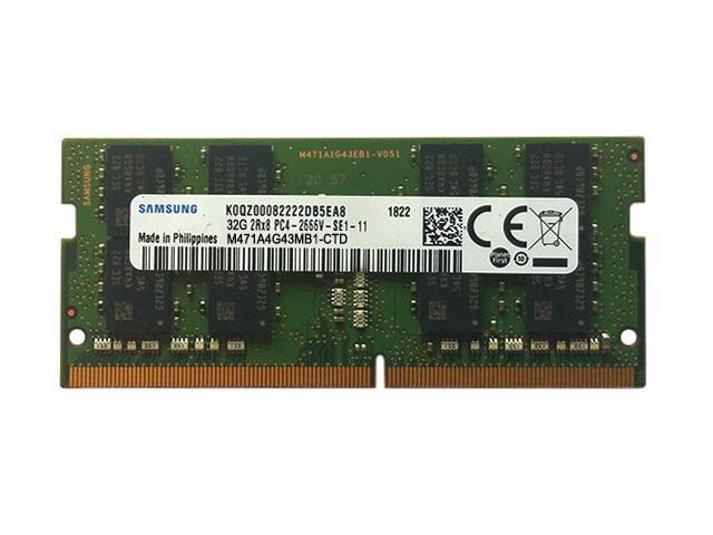 Memory Modules Samsung M471A1K43CB1-CTD 8GB DDR4 2666MHz Memory Module 8GB, 1 x 8GB, DDR4, 2666 MHz, 260-Pin SO-DIMM, Black, Green