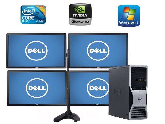 Dell Precision T5500, 4 X Dell 24