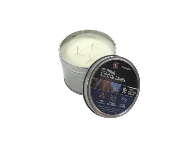 TG,LLC Treasure Gurus 36 Hour Soy Camping Outdoor Survival Candle Emergency Rescue Gear Prepper Supplies