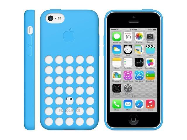 more photos 9e091 18bdc OEM Original Apple iPhone 5c Silicone Case - Blue (MF035ZM/A) - Newegg.com