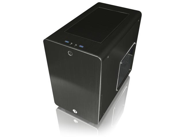 RAIJINTEK STYX BLACK, Alu Micro-ATX Case - Compatible With Regular ATX Power Supply, Max. 280mm VGA Card, 180mm CPU Cooler, Max. 240mm Radiator Cooling On Top, with A Drive Bay For Slim DVD On Side