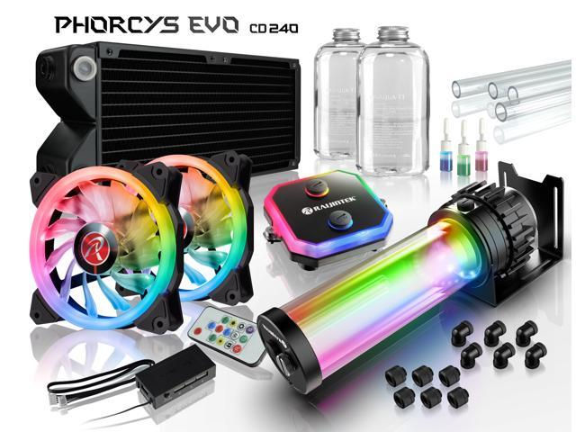 PHORCYS EVO CD240, a full Water Cooling Kit, including copper water block,  65mm copper 240 radiator, D5 level pump, is a top premium quality water