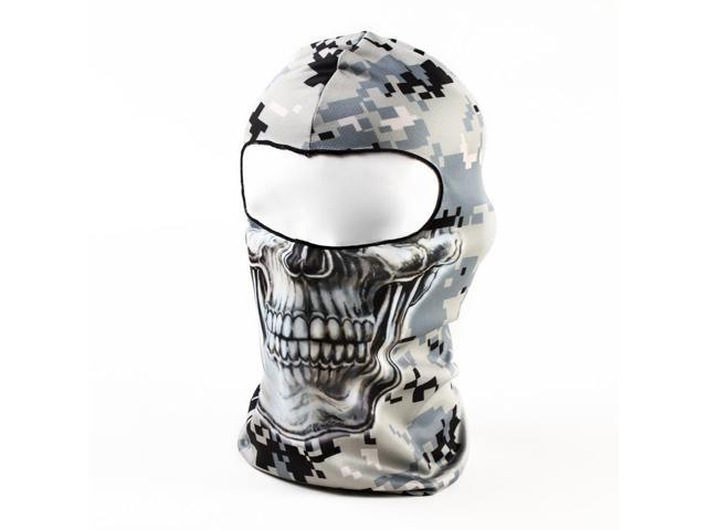 c4902bc0837 Gray Camouflage Skull 3D Animal Active Outdoor Sports Cycling Motorcycle  Masks Ski Hood Hat Veil Balaclava