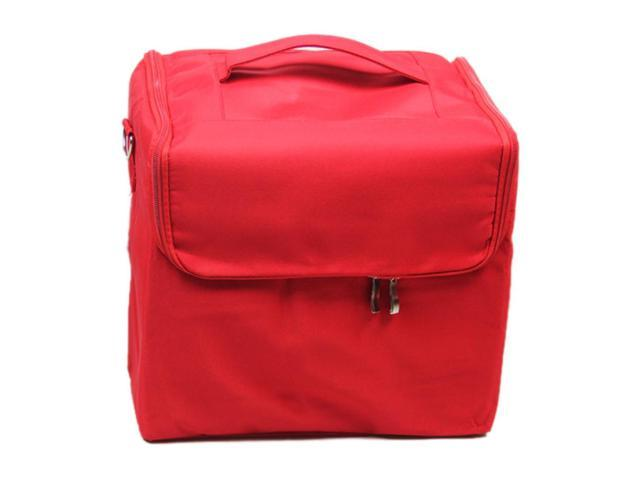 Makeup Professional Storage Beauty Box Travel Cosmetic Organizer Carry Case red