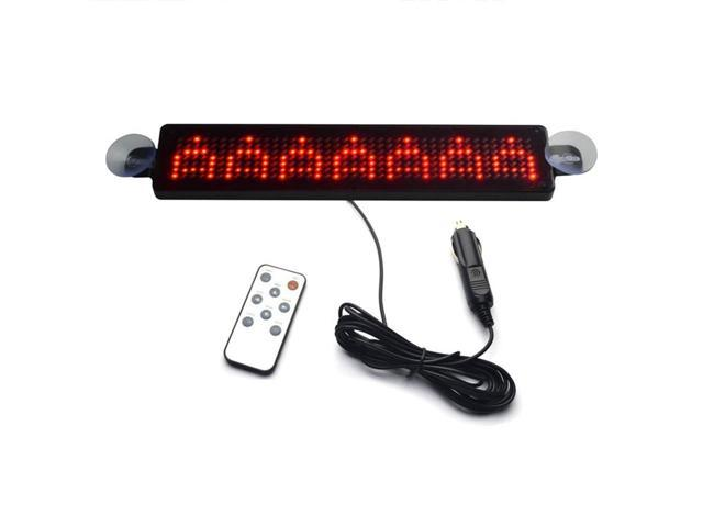 THZY 12V Car LED Programmable Message Sign Scrolling Display Board with  Remote (Red) - Newegg com