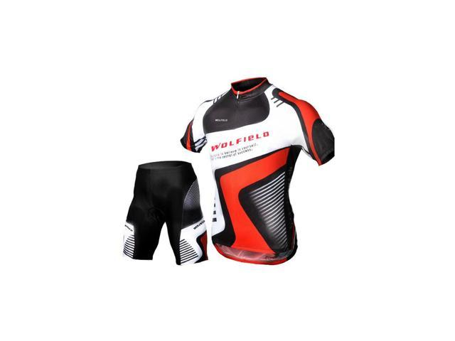 a3aa59edf WOLFBIKE Men Cycling Bicycle Bike Outdoor Jersey + Shorts Short Sleeves Breathable  Riding Clothes Pants L