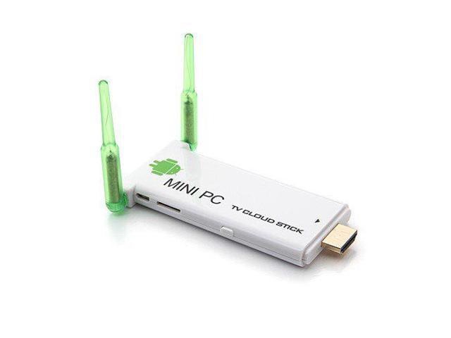 THZY Quad Core 1 8GHz Android 4 2 Mini PC TV Box Dongle RK3188 Dual Antenna  Bluetooth 2GB RAM 8GB WIFI HDMI HI716 white - Newegg com