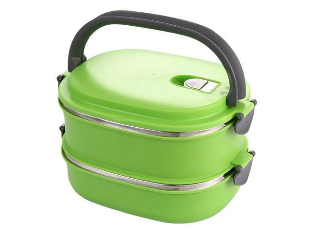 SODIAL Insulated Lunch Box Stainless Steel Food Storage Container