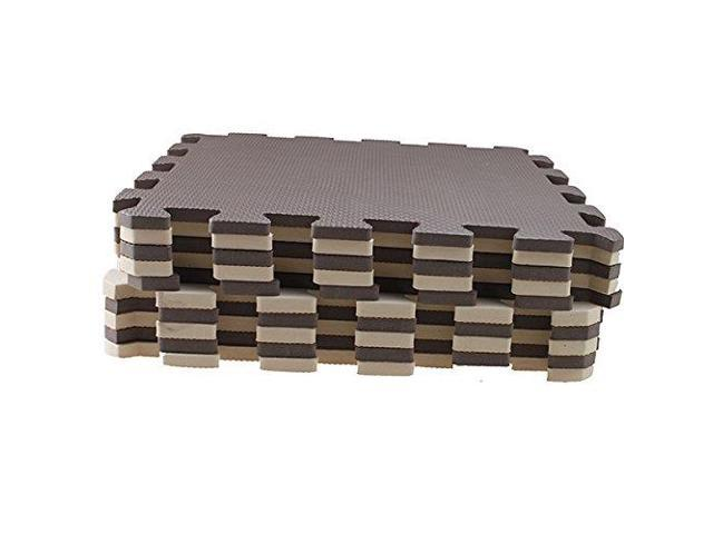 10 Piece Eva Foam Puzzle Exercise Mat Interlocking Floor Tiles