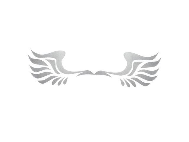 Thzy White Wings Car Stickers Fashion Design 3d Decoration Sticker