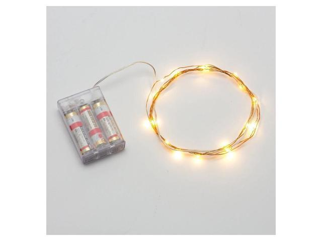 SODIAL Mini Micro Battery Powered LED String Light Copper Wire ...