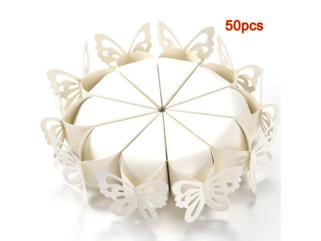 Gift Ideas For Mc At Weddings: 50 Pcs Butterfly Favor Gift Candy Boxes Cake Style For