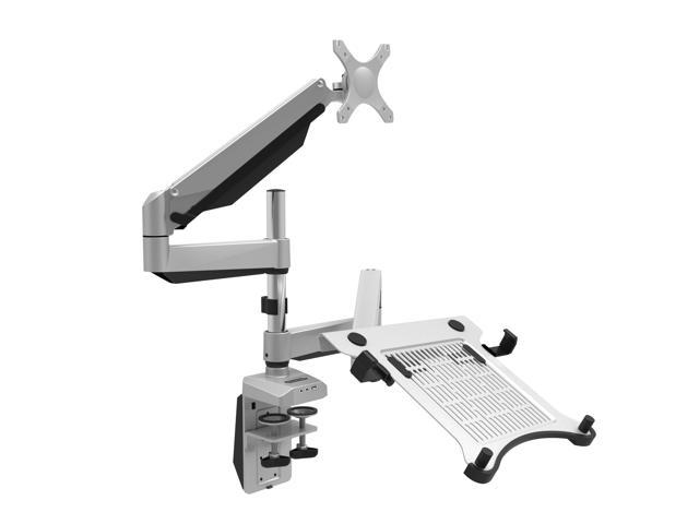 Stupendous Loctek D7Dp Swivel Dual Lcd Arm Desk Laptop Mount Monitor Stand Fits 10 27 Computer Screen 10 1 17 3 Notebook Height Adjustable Newegg Ca Home Interior And Landscaping Synyenasavecom
