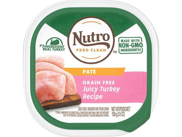 Nutro Paté Grain Free Wet Dog Food Adult & Puppy, 3.5 oz Trays (Pack of 24)