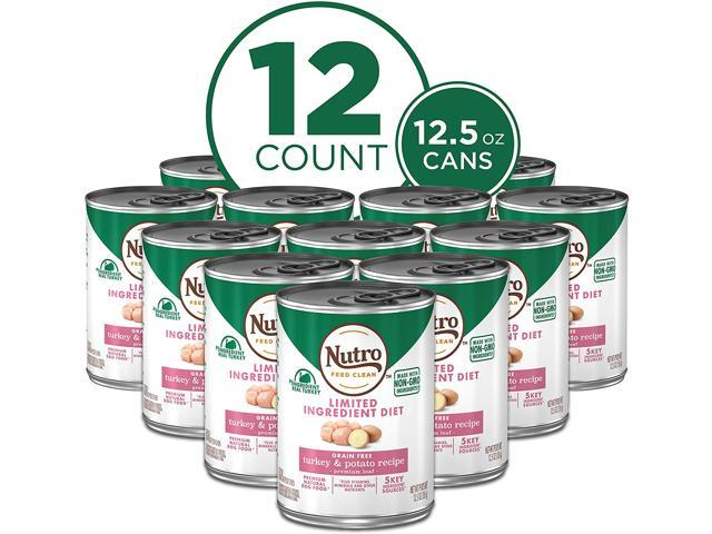 NUTRO Limited Ingredient Diet Adult Natural Wet Dog Food, 12.5oz Can (12 Pack)
