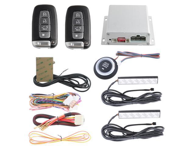 pke car alarm system with 4 key remote control, remote engine start
