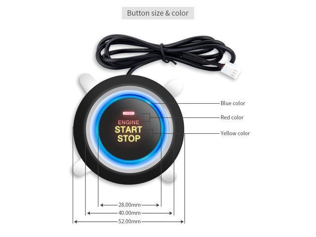 Universal car alarm system with RFID transponder immobilizer, push button  start and alarm/disarm, car status memory - Newegg com