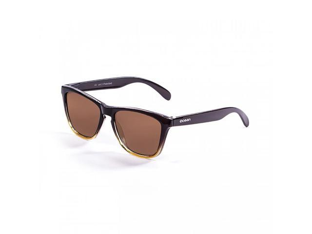 Brown Natural Front Polarized Sea Sunglasses Ocean Bamboo Dark Wood With Arm Lens P0Ow8nk