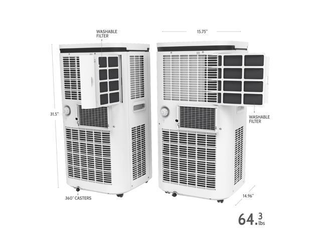 ROLLICOOL Alexa-Ready 14,000 BTU Portable Air Conditioner ...