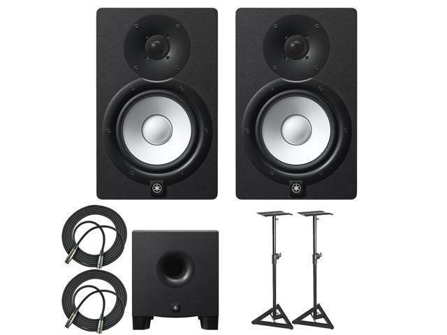 yamaha hs7 100 watt series monitor black 2 pack bundle. Black Bedroom Furniture Sets. Home Design Ideas