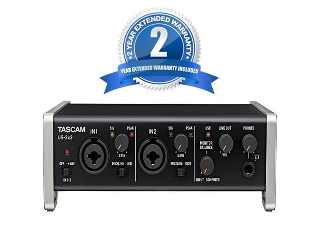 tascam us 2x2 usb 2 0 audio midi interface 2 year extended warranty. Black Bedroom Furniture Sets. Home Design Ideas