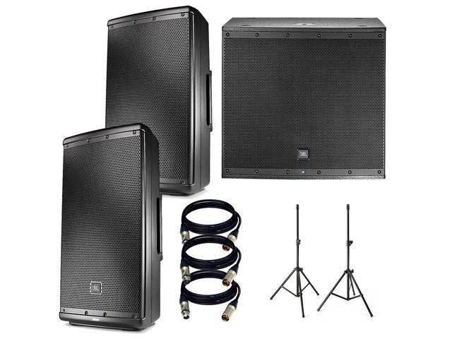 jbl eon618s 1000 watt subwoofer jbl eon 612 speaker pair speaker stand 3 xlr to xlr 25ft. Black Bedroom Furniture Sets. Home Design Ideas