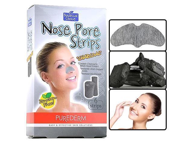 Purederm - Botanical Choice Nose Pore Strips Charcoal Removes Blackhead  Salon - Newegg com