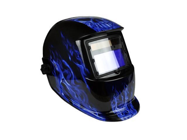 Solar Powered Auto Darkening Welding Helmet with Two Baffles Eagle-Blue Pattern