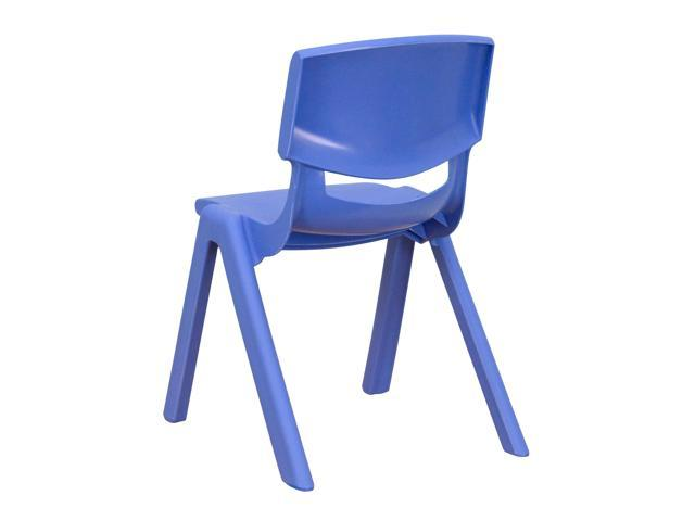Blue Plastic Stackable School Chair With 12 Seat Height